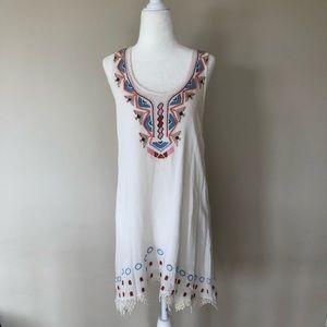 Embellished Tribal Print Dress